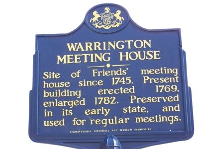 Warrington Meeting House Marker image. Click for full size.