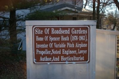 Site of Roadsend Gardens Marker image. Click for full size.