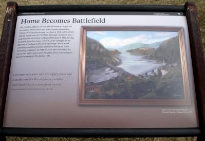 Home Becomes Battlefield Marker image. Click for full size.