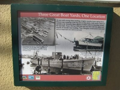 Three Great Boat Yards, One Location Marker image. Click for full size.