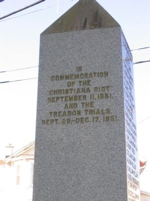 Detail of Text of East Face of Monument (the presumed front of the obelisk) image. Click for full size.
