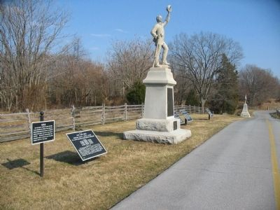 Cluster of Tablets around the 3rd Pennsylvania Reserves Monument image. Click for full size.