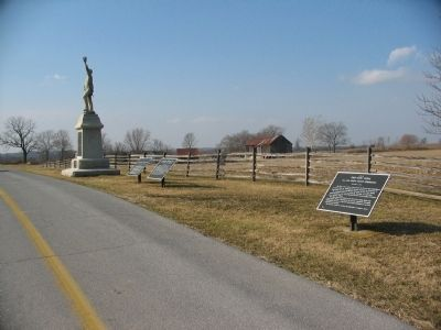 War Tablets Flanking the 3rd Pennsylvania Reserves Monument image. Click for full size.