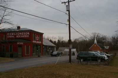 Wilson's Store with Gettysburg and Wilson's Store markers image. Click for full size.