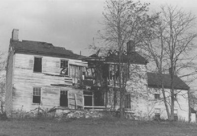 The house near collapse in 1976 image. Click for full size.