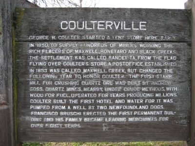 Coulterville Marker image. Click for full size.