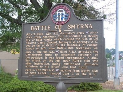 Battle of Smyrna Marker image. Click for full size.