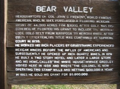 Bear Valley Marker image. Click for full size.