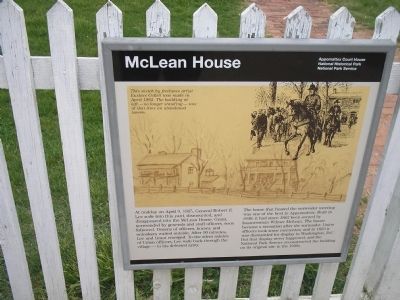 McLean House Marker Photo, Click for full size