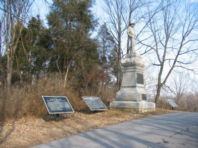 Three War Department Tablets Flank the 12th Pennslyvania Cavalry Monument image. Click for full size.