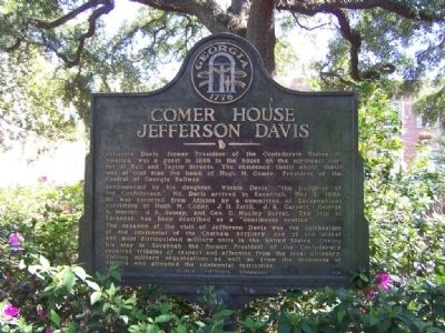 Comer House Jefferson Davis Marker image. Click for full size.