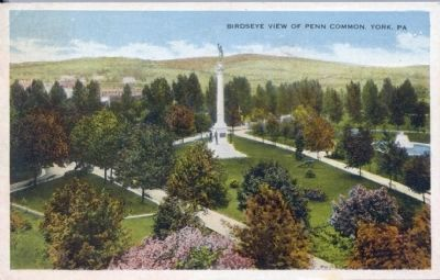 Birdseye View of Penn Common, York, PA image. Click for full size.