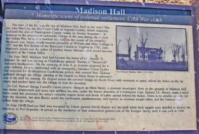 Madison Hall Marker Photo, Click for full size