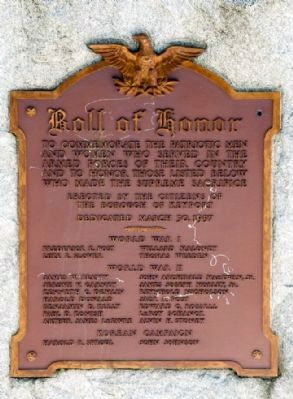 Roll of Honor Plaque image. Click for full size.