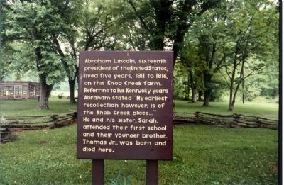 Lincoln Knob Creek Farm Marker image. Click for full size.