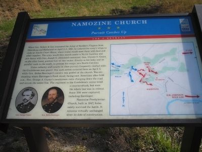 Namozine Church Marker image. Click for full size.