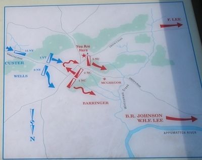 Namozine Church Battle Map image. Click for full size.