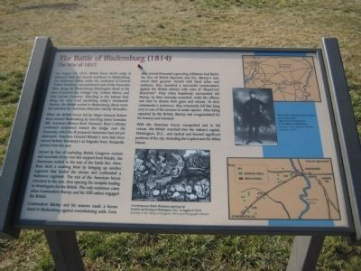 The Battle of Bladensburg (1814) Marker image. Click for full size.