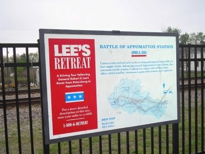 Battle of Appomattox Station Marker image. Click for full size.