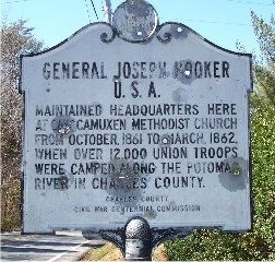 General Joseph Hooker U.S.A. Marker image. Click for full size.