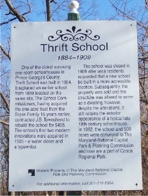 Thrift School Marker image. Click for full size.