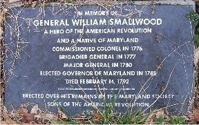 General Smallwood's Gravesite Marker Photo, Click for full size