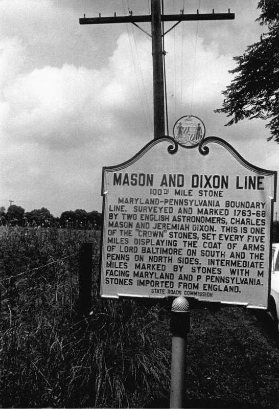 Mason and Dixon Line Marker image. Click for full size.