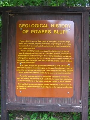 Geological History of Powers Bluff Marker Photo, Click for full size