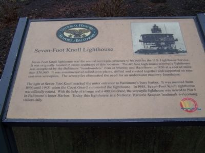 Seven-Foot Knoll Lighthouse Marker image. Click for full size.