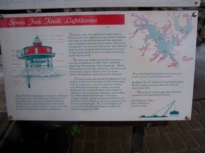 Seven-Foot Knoll Lighthouse - Description at Base of Lighthouse image. Click for full size.