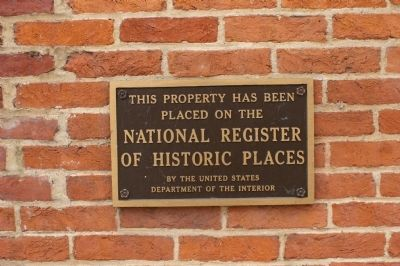 Standard National Register of Historic Places marker image. Click for full size.
