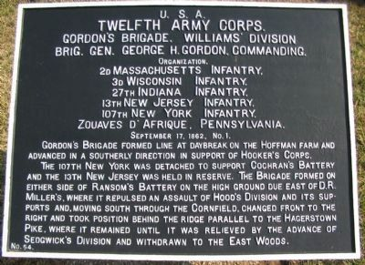 Gordon's Brigade Marker image. Click for full size.