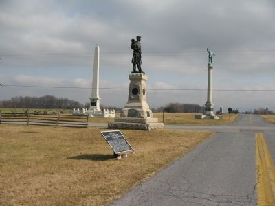 War Department Tablet 6 and 124th Pennslyania Monument image. Click for full size.