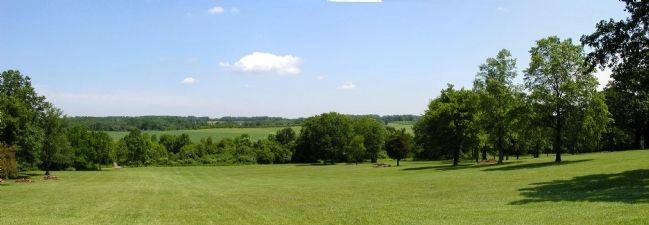 View of the battlefield from Combs Hill image. Click for full size.