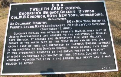 Goodrich's Brigade Tablet image. Click for full size.