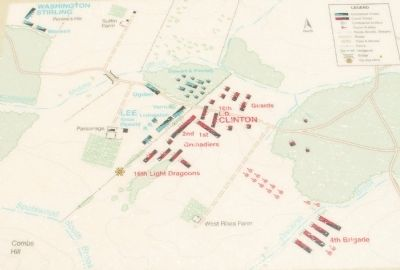 The Battle of Monmouth 12:45 PM-1:00 PM image. Click for full size.