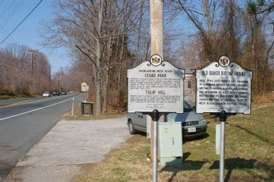 Overlooking West River and Old Quaker Burying Ground markers Photo, Click for full size