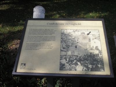 Confederate Stronghold Marker Photo, Click for full size