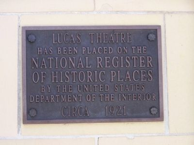 Lucas Theatre Marker image. Click for full size.