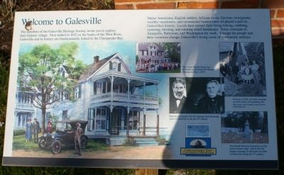 Welcome to Galesville Marker image. Click for full size.
