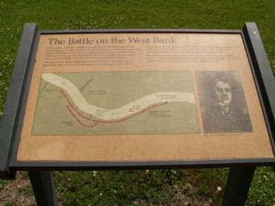 The Battle on the West Bank Marker image. Click for full size.