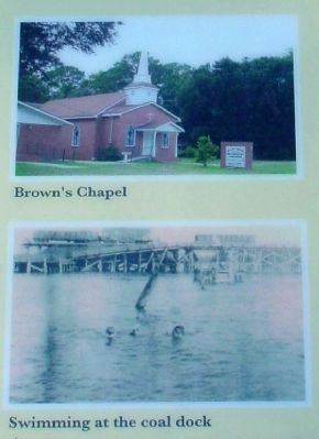Brown�s Chapel; Swimming at the coal dock image. Click for full size.