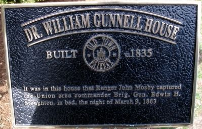 Dr. William Gunnell House Marker Photo, Click for full size