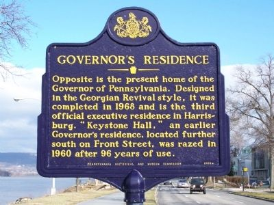 Governor's Residence Marker image. Click for full size.