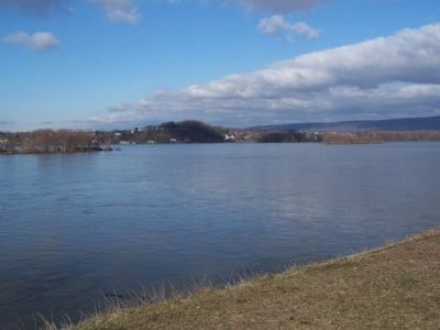 View of Susquehanna River from Front Street side of Governor's Residence. image. Click for full size.