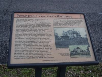 Pennsylvania Governor's Residence Marker Photo, Click for full size