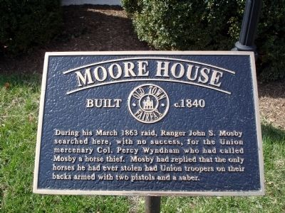 Moore House Marker image. Click for full size.