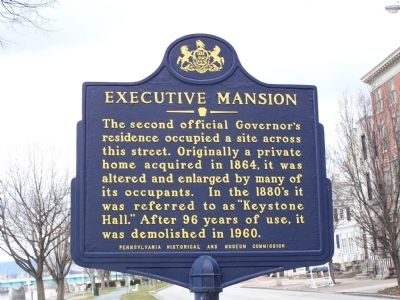 Executive Mansion Marker image. Click for full size.