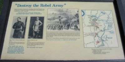 """Destroy the Rebel Army"" Marker image. Click for full size."