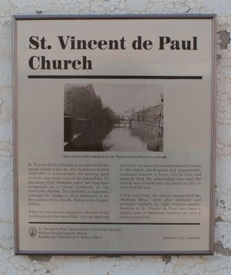 St. Vincent de Paul Church Marker image. Click for full size.